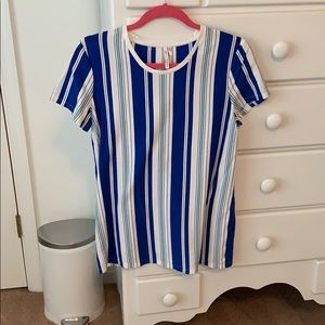 Banana Republic blue&white striped shirt sleeve